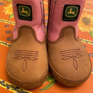 John Deere Toddler Leather Boots